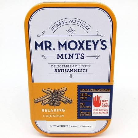 SPOT Moxey Mints Indica Cinnamon 100mg THC 20 X 5mg