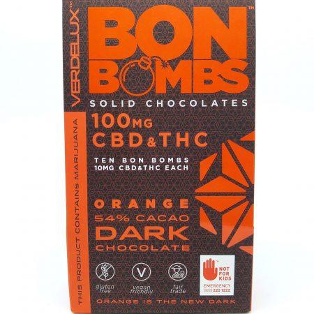 Orange Bon Bombs CBD 10 Pack from Verdelux
