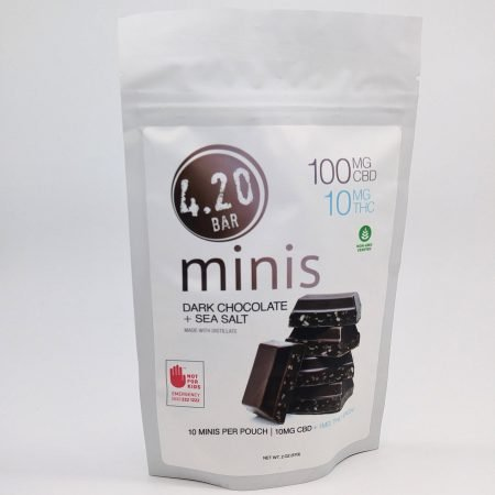 EVER Dark Chocolate Sea Salt 10:1 CBD 420 Mini 10 Pack
