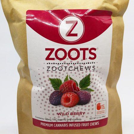 DB3 ZootChews Wildberry 20 Pack 100mg Total