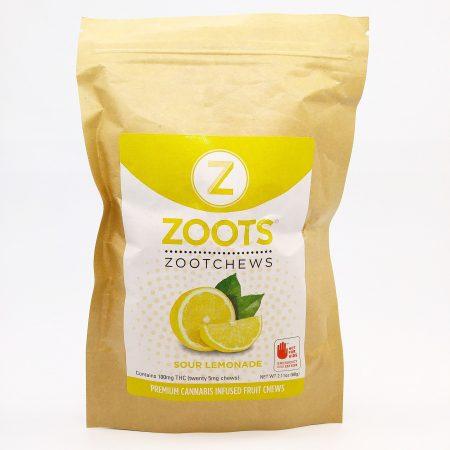 DB3 ZootChews Sour Lemonade 20 Pack 100mg Total